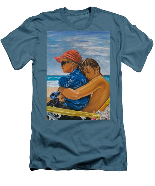A Day On The Beach Men's T-Shirt (Athletic Fit)