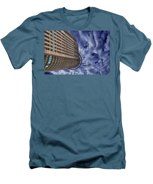 Men's T-Shirt (Slim Fit) featuring the photograph A Drifting Skyscraper by Ron Shoshani