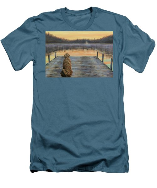 A Golden Moment Men's T-Shirt (Slim Fit) by Susan DeLain