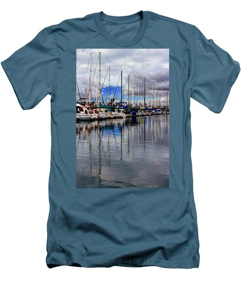 A Hint Of Blue Men's T-Shirt (Slim Fit) by Heidi Smith