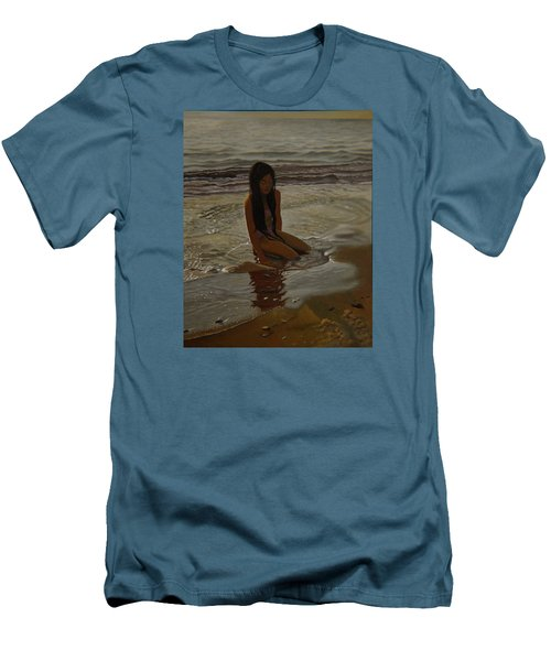 A Line Between Ocean And Sand Men's T-Shirt (Athletic Fit)