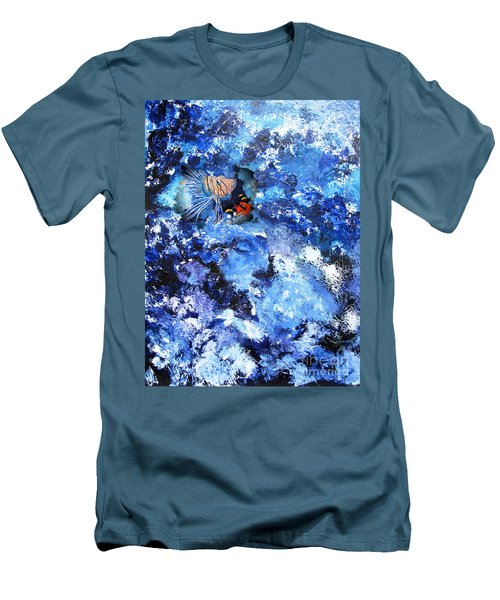 A Lion Out Of The Coral Men's T-Shirt (Athletic Fit)