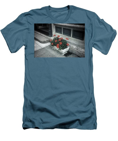 Men's T-Shirt (Slim Fit) featuring the photograph A Little Color In A Drab World by Rodney Lee Williams
