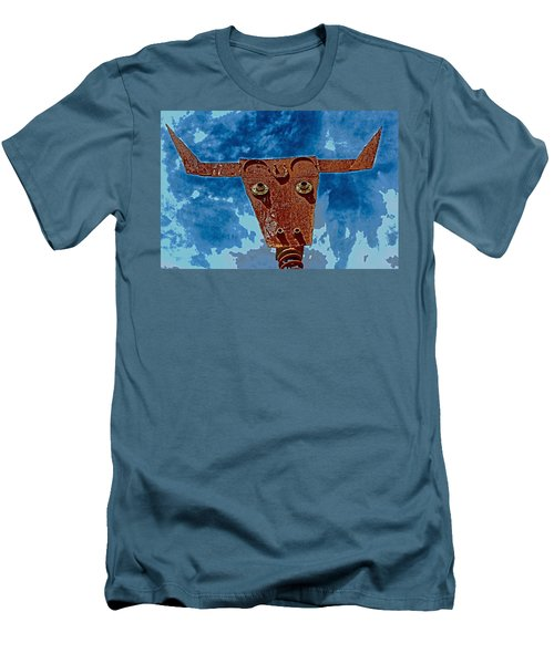 Men's T-Shirt (Slim Fit) featuring the photograph A Lucky Bull by Lynn Sprowl