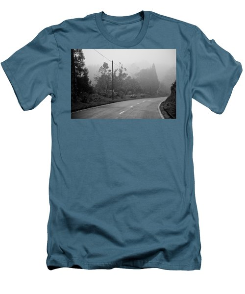 A Misty Country Road Men's T-Shirt (Athletic Fit)