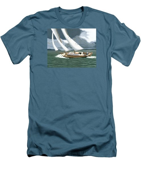 A Passing Squall Men's T-Shirt (Slim Fit) by Gary Giacomelli