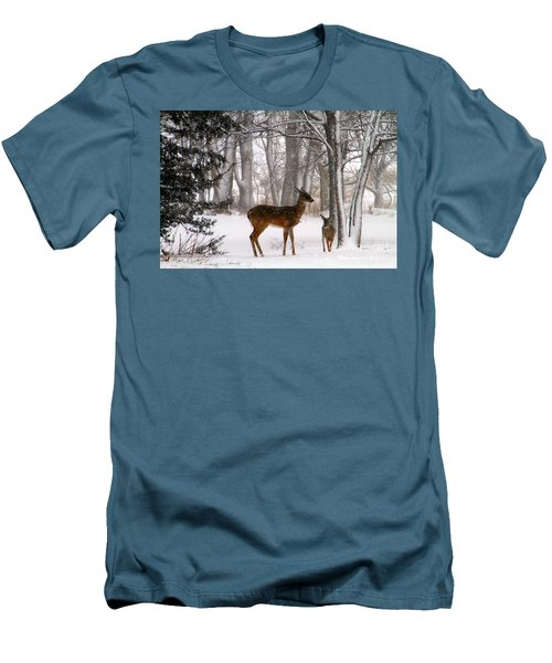A Snowy Path Men's T-Shirt (Athletic Fit)