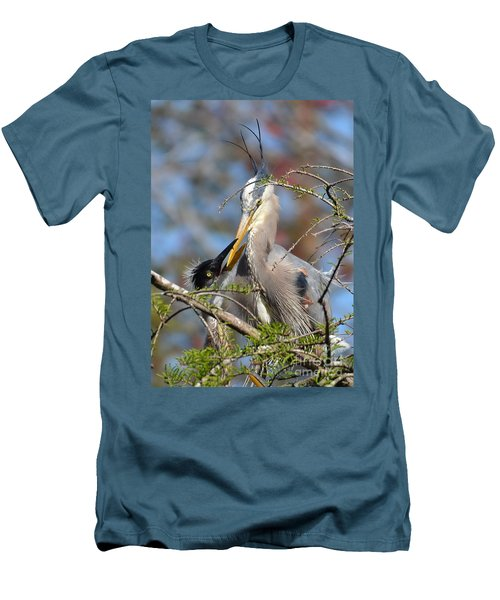 Men's T-Shirt (Slim Fit) featuring the photograph A Special Moment by Kathy Baccari