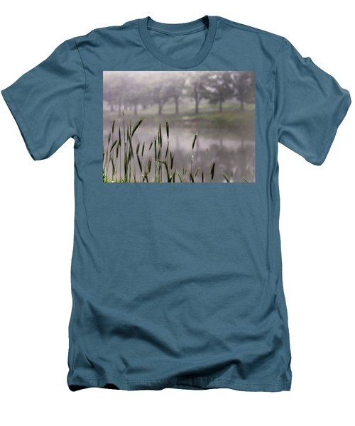 Men's T-Shirt (Slim Fit) featuring the photograph A View In The Mist by Bruce Patrick Smith