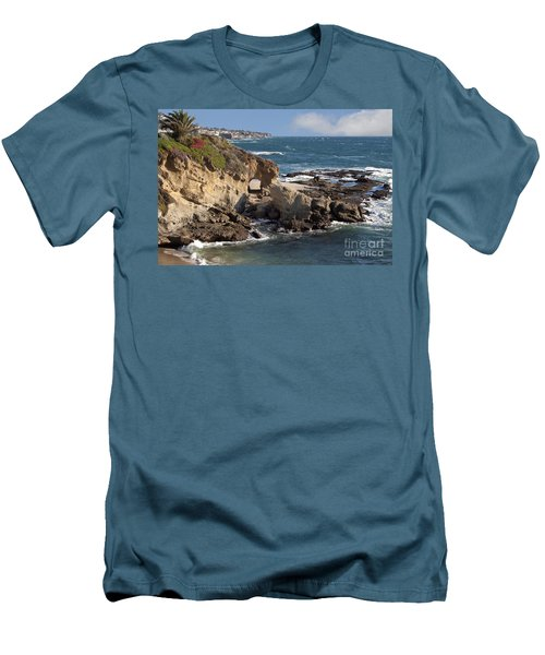 A Walk Through The Rocks Men's T-Shirt (Slim Fit)