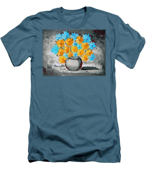 A Whole Bunch Of Daisies Selective Color II Men's T-Shirt (Slim Fit) by Ramona Matei