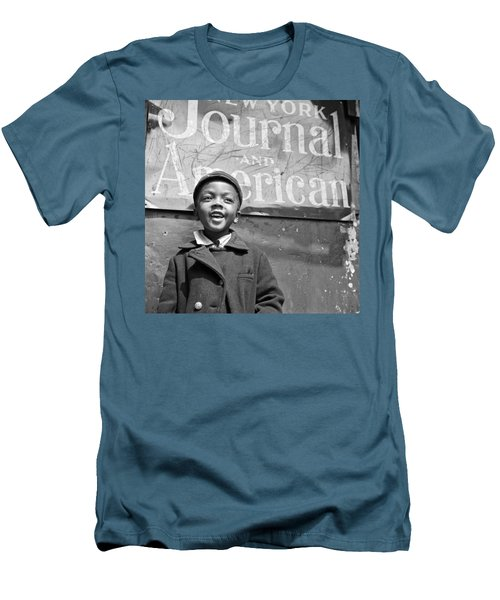 A Young Harlem Newsboy Men's T-Shirt (Slim Fit) by Underwood Archives