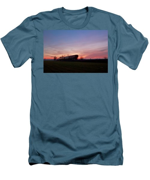 Men's T-Shirt (Slim Fit) featuring the photograph Abandoned Train  by Eti Reid