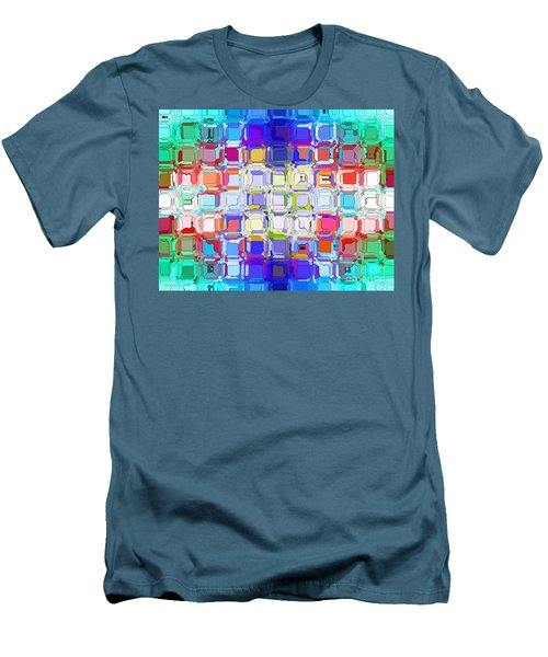 Men's T-Shirt (Slim Fit) featuring the digital art Abstract Color Blocks by Anita Lewis