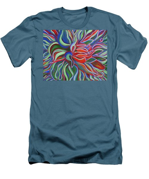 Abstract Flower Men's T-Shirt (Slim Fit) by Janice Dunbar