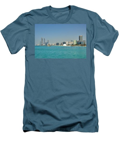 Abu Dhabi Skyline Men's T-Shirt (Athletic Fit)