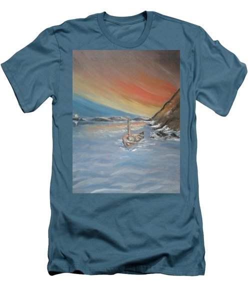 Men's T-Shirt (Slim Fit) featuring the painting Adrift by Teresa White