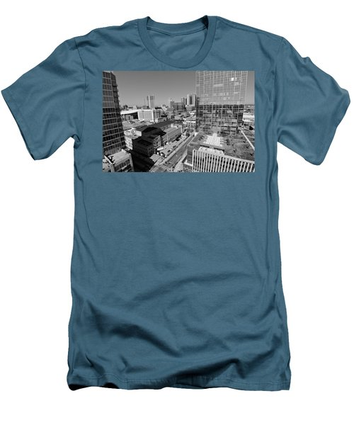 Aerial Photography Downtown Nashville Men's T-Shirt (Slim Fit) by Dan Sproul