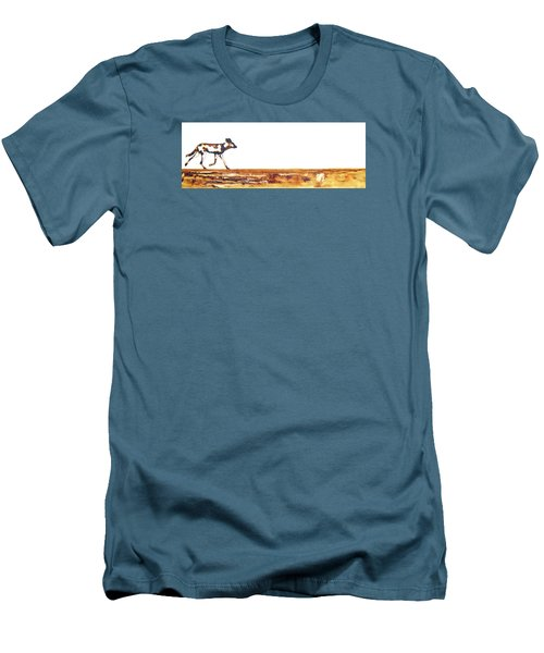 Endangered African Wild Dog - Original Artwork Men's T-Shirt (Athletic Fit)