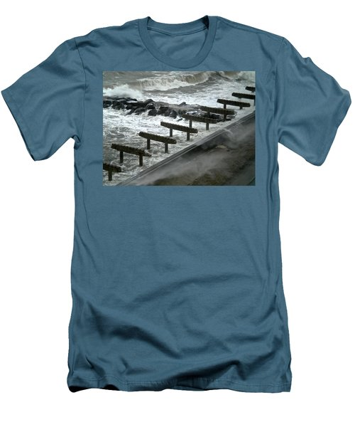 Men's T-Shirt (Athletic Fit) featuring the photograph After Storm Sandy by Joan Reese
