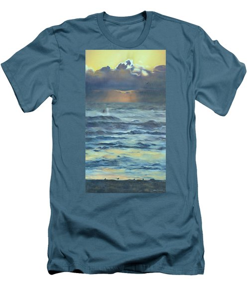 Men's T-Shirt (Slim Fit) featuring the painting After The Storm by Lori Brackett