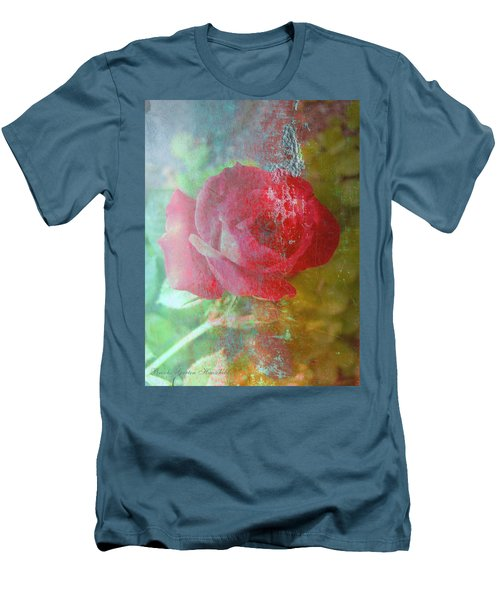 Ageless - Rose - Manipulated Images Men's T-Shirt (Athletic Fit)