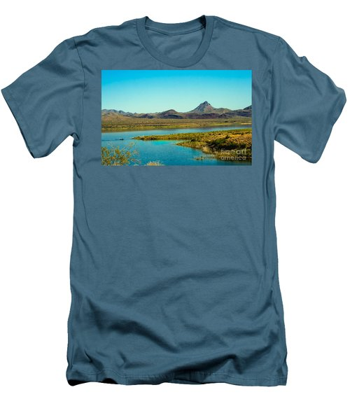 Alamo Lake Men's T-Shirt (Slim Fit) by Robert Bales