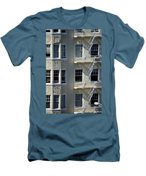 Men's T-Shirt (Slim Fit) featuring the photograph Alamo Square San Francisco by Steven Richman