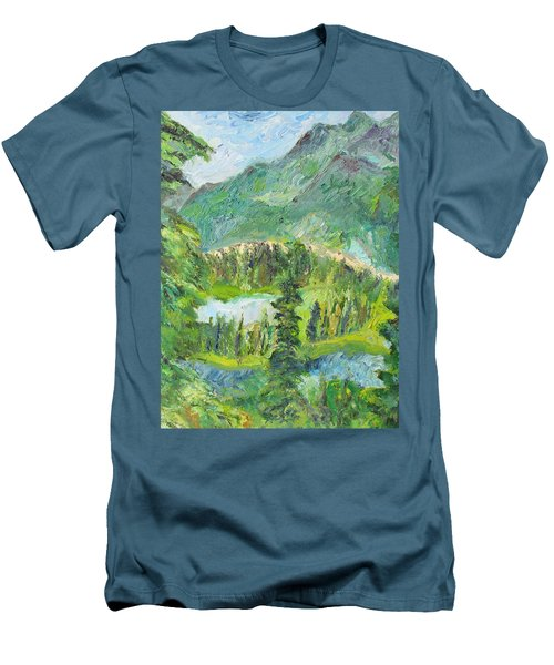 Alaska  Mountain Range Men's T-Shirt (Athletic Fit)