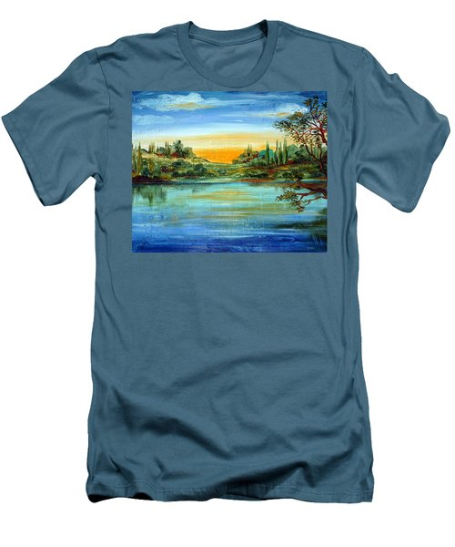 Alba Sul Lago Men's T-Shirt (Athletic Fit)
