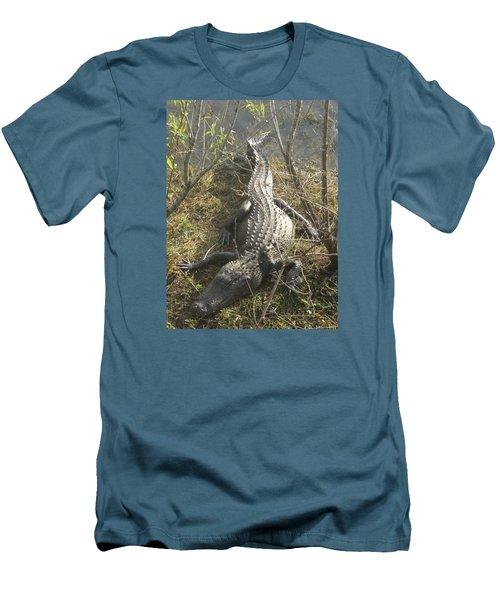 Men's T-Shirt (Slim Fit) featuring the photograph Alligator by Robert Nickologianis