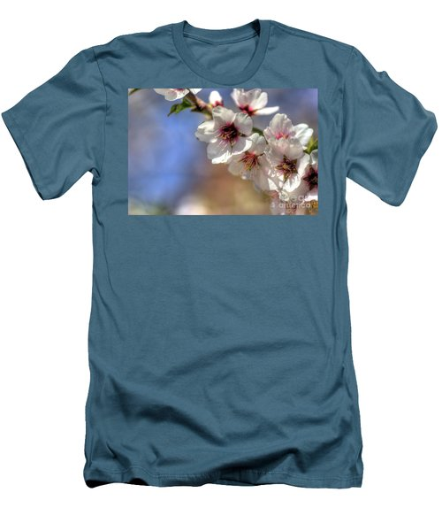 Men's T-Shirt (Slim Fit) featuring the photograph Almond Blossoms by Jim and Emily Bush