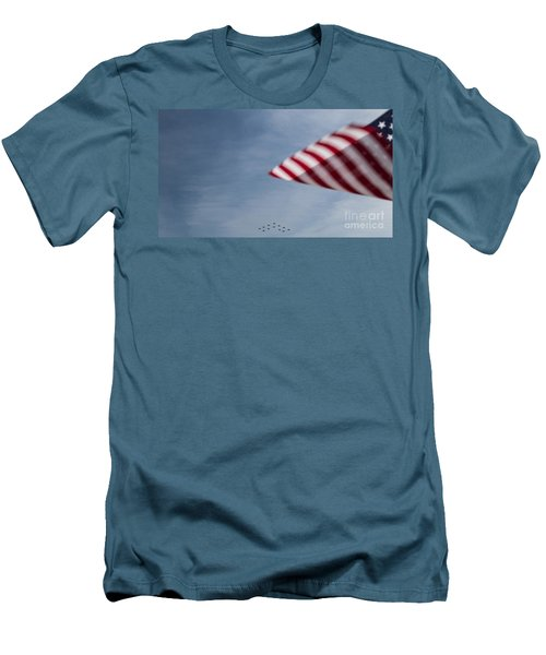 Men's T-Shirt (Slim Fit) featuring the photograph Almost Home by Angela DeFrias