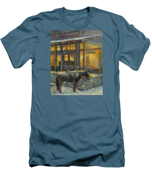 Men's T-Shirt (Slim Fit) featuring the painting Always Open by Donna Tucker
