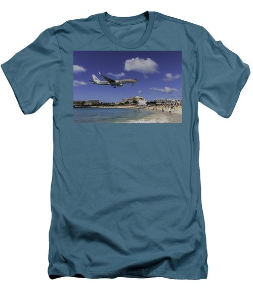 American Airlines At St. Maarten Men's T-Shirt (Athletic Fit)