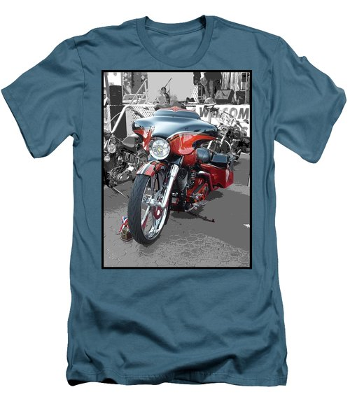 Men's T-Shirt (Slim Fit) featuring the photograph American Heat - Palm Springs by Glenn McCarthy Art and Photography