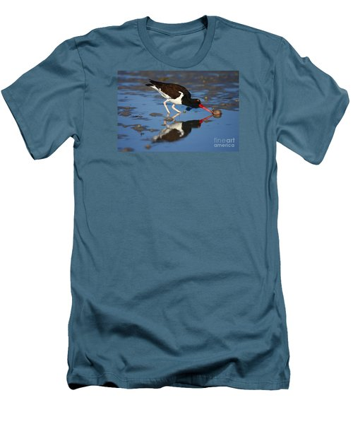 Men's T-Shirt (Slim Fit) featuring the photograph American Oystercatcher Mirror by John F Tsumas