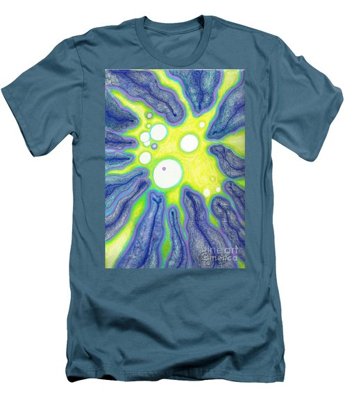 Men's T-Shirt (Slim Fit) featuring the painting Amoeba Adolescence  by Carol Jacobs