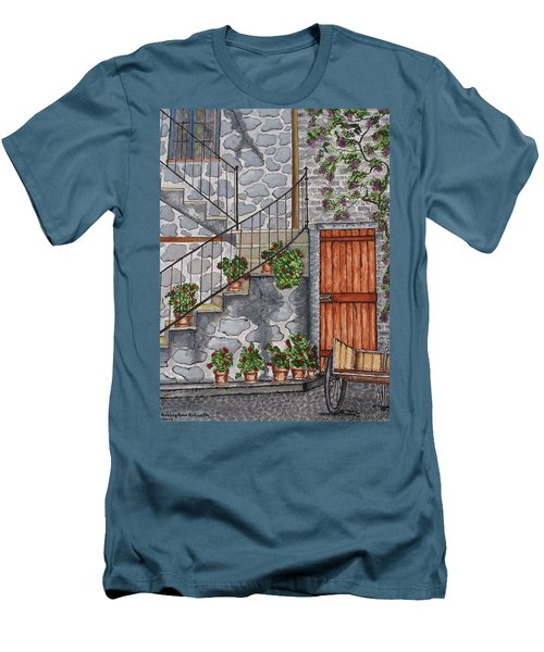 Ancient Grey Stone Residence Men's T-Shirt (Athletic Fit)