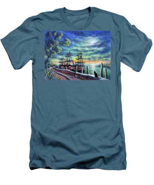 And We Shall Sail My Love And I Men's T-Shirt (Slim Fit) by Retta Stephenson