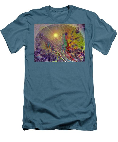 Men's T-Shirt (Slim Fit) featuring the digital art Angel Taking Flight by Alison Caltrider