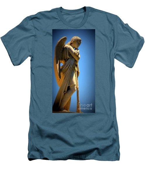 Angel Watching Men's T-Shirt (Athletic Fit)