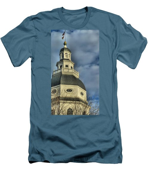 Annapolis Statehouse Men's T-Shirt (Athletic Fit)