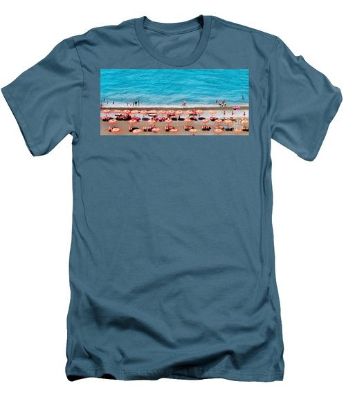 Another Day In Paradise-positano-digitized Men's T-Shirt (Slim Fit) by Jennie Breeze