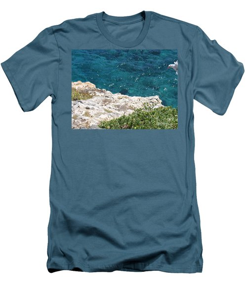 Antigua - Flight Men's T-Shirt (Slim Fit) by HEVi FineArt