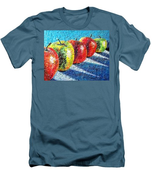 Apple A Day Men's T-Shirt (Slim Fit) by Susan DeLain