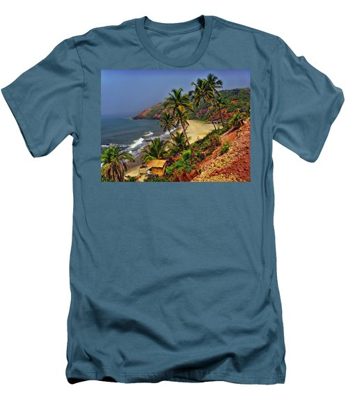 Arambol Beach India Men's T-Shirt (Slim Fit) by Anthony Dezenzio