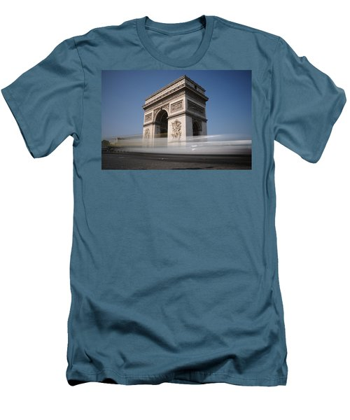 Men's T-Shirt (Slim Fit) featuring the photograph Arc De Triomphe by Jeremy Voisey
