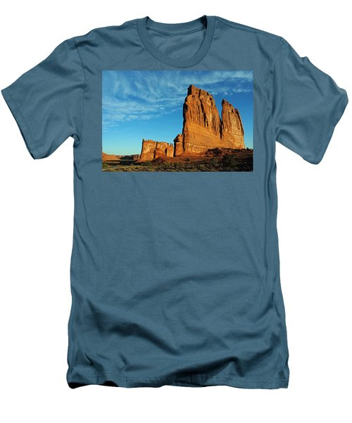 Men's T-Shirt (Slim Fit) featuring the photograph Arches National Park 47 by Jeff Brunton