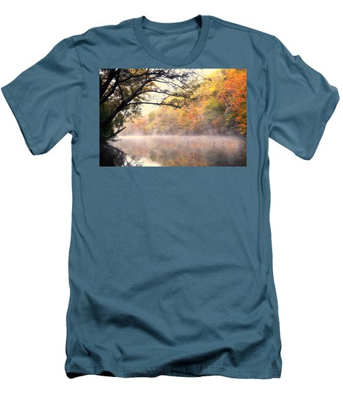 Men's T-Shirt (Slim Fit) featuring the photograph Arching Tree On The Current River by Marty Koch